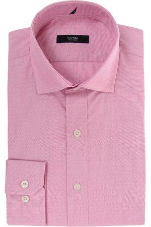 Camisa de vestir con diseño gráfico Nautica corte regular fit cuello italiano ro