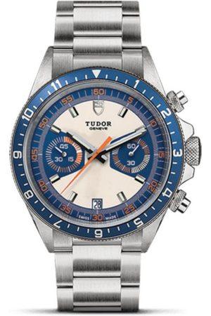 Tudor Heritage Chronograph Blue M70330B-0001 Reloj para Caballero Color Acero