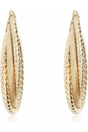 Richline Arracadas para Dama de Oro Amarillo 14 k