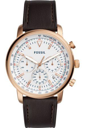 Reloj para caballero Fossil Goodwin Chrono FS5415 café obscuro