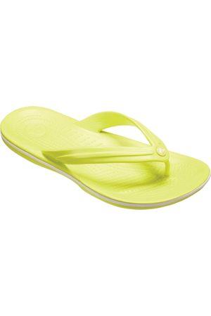 Sandalia lisa Crocs Crocband Flip Tennis verde limón