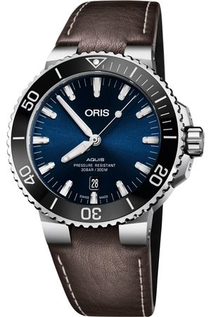 Reloj para caballero Oris Aquis 73377304135-0752410EB café obscuro