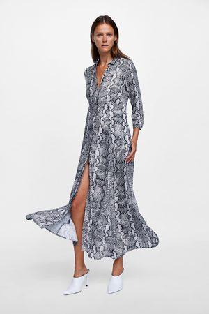 Vestido camisero mujer zara