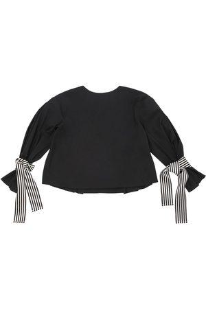 Unlabel Camisa D Epopelina De Algodón Con Lazos