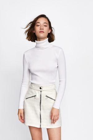 Zara Mujer Minifaldas - FALDA MINI TWEED