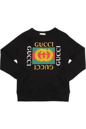 Gucci Niño Sudaderas - Sudadera De Algodón Con Logo Estampado