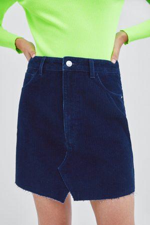 Zara Mujer Minifaldas - FALDA MINI PANA