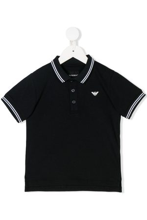 Armani Striped trim polo shirt