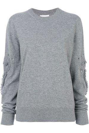 Barrie Suéter con texturas en mangas