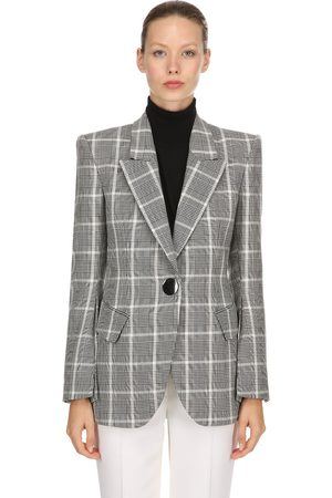 PETAR PETROV Plaid Cool Wool Blazer