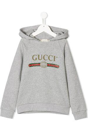 Gucci Kids Sudadera con logo vintage y capucha