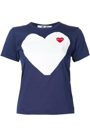 Comme des Garçons Camiseta con estampado y aplique de corazón
