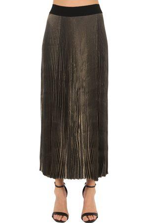 POIRET Mujer Plisadas - Falda Plisada Lamè