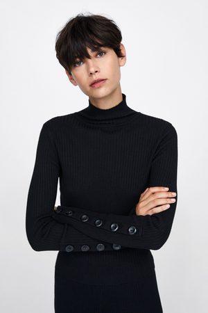 Zara JERSEY CUELLO SUBIDO BOTONES