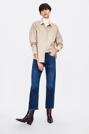 Zara Camisa oversize micropana