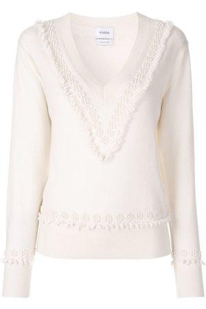 Barrie Mujer Suéteres - Suéter con cuello en V con texturas