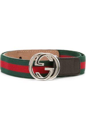 Gucci Cinturón diseño de tribanda con hebilla GG