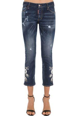 Dsquared2 Jeans De Denim De Algodón Con Espejos