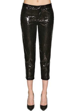 Dsquared2 Pantalones Cropped Con Lentejuelas