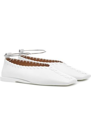Jil Sander Mujer Anillos - Ankle-ring leather flats