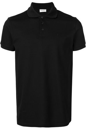 Saint Laurent Playera tipo polo con manga corta
