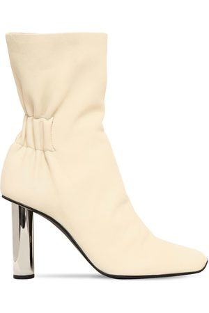 Proenza Schouler Mujer Botines - 100mm Leather Ankle Boots W/ Metal Heel