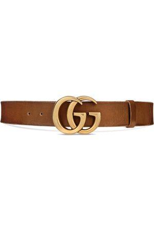 Gucci Cinturón de piel con hebilla GG