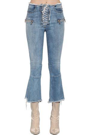 UNRAVEL Jeans De Denim Acampanados Con Cordones
