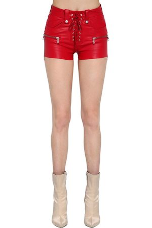 UNRAVEL Shorts De Piel Stretch Con Cordones