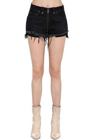 UNRAVEL Shorts De Algodón Stretch Con Cremallera