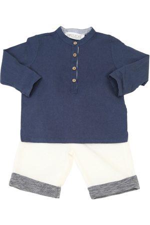 OPILILAI Cotton Linen Blend Shirt & Pants