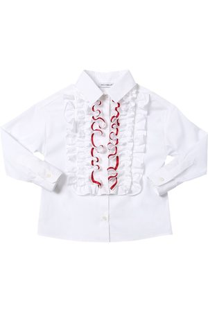 Dolce & Gabbana Niña Camisas - Camisa De Popelina De Algodón Stretch