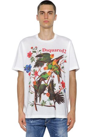 Dsquared2 Camiseta De Jersey De Algodón Estampada