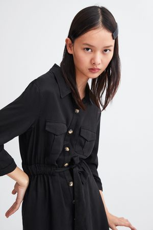 ff85647f30 Vestidos Camiseros de mujer Zara camisa negra ¡Compara ahora y ...