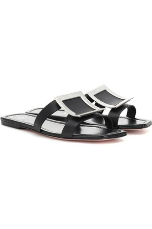 Roger Vivier Biki Viv' leather slides