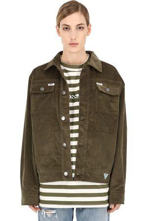 INFINITE ARCHIVES X GUESS JEANS U.S.A. Ia Ls Cotton Corduroy Worker Jacket