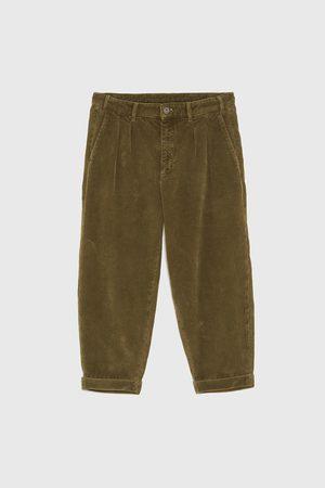 pantalon pana beige hombre zara