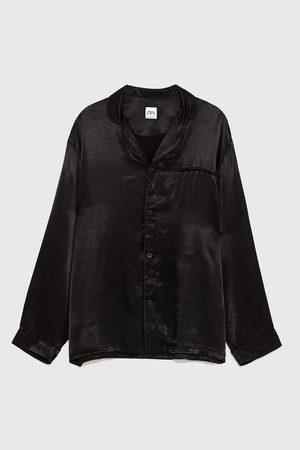 Zara Camisa pijamera satinada