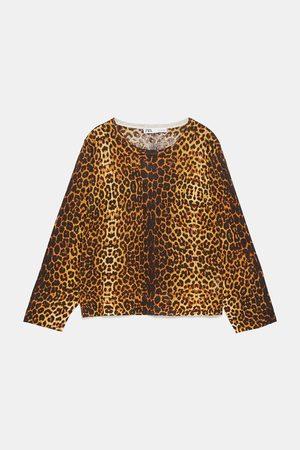 Zara Jersey punto estampado animal