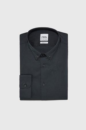 Zara Camisa popelín elástico