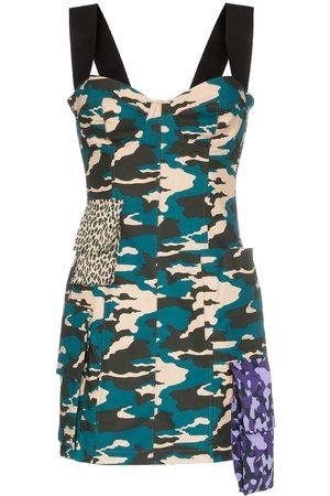 Natasha Zinko Vestido corto con estampado militar