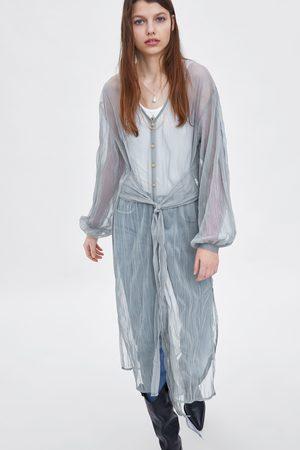 Zara Vestido semitransparente