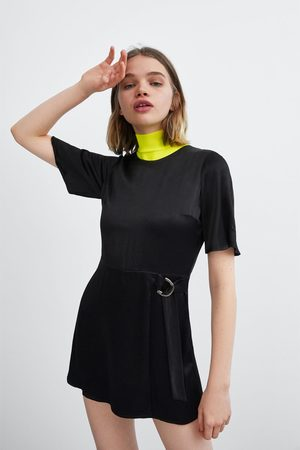 Zara Mujer Largos - Mono vestido satinado
