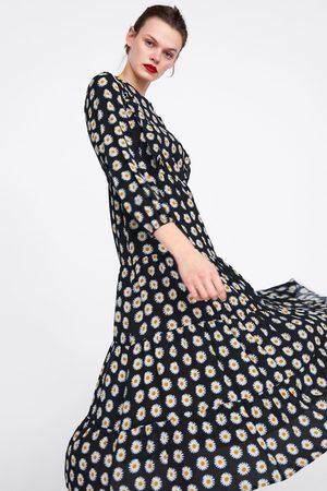 Zara Mujer Estampados - Vestido estampado floral volantes