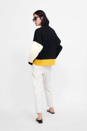 Zara Sudadera combinada color block