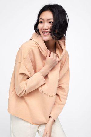 Zara Sudadera capucha combinada