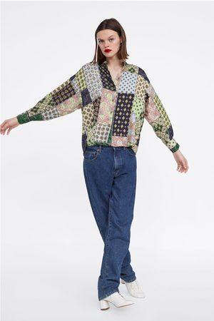 Zara Camisa estampado patchwork