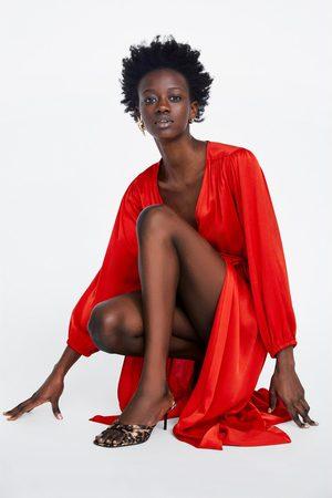Zara Mujer Vestidos - Vestido satinado