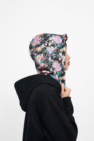 Zara Sudadera capucha estampado floral