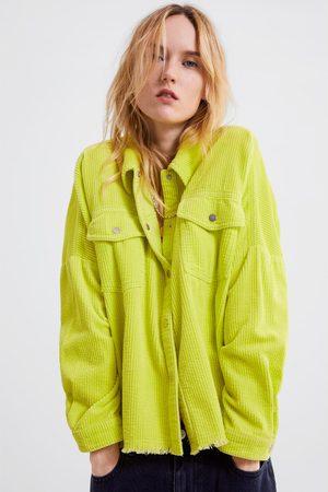 Zara Mujer Camisas - Camisa oversize pana